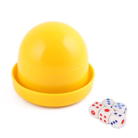 Party Casino Games Plastic Cylindrical Hand Shaker Cup Entertainment Dice Yellow (Halloween Party Shaker Mp3)