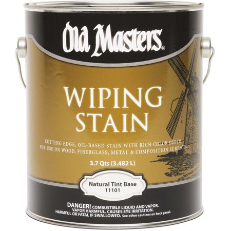 Old Masters Wiping Stain Semi-Transparent Natural Tint Base Oil-Based Wiping Stain 1 gal.