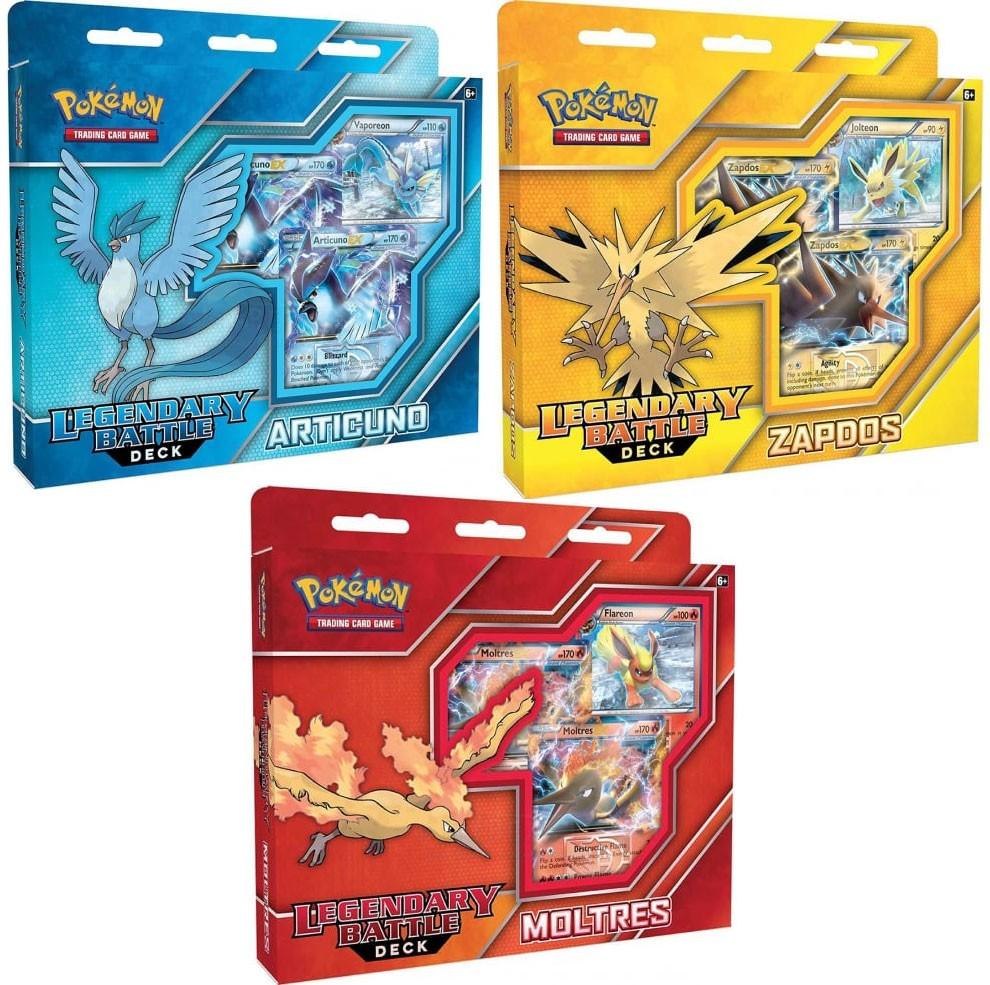 Pokemon Articuno EX, Zapdos EX & Moltres EX Set of 3 Lege...