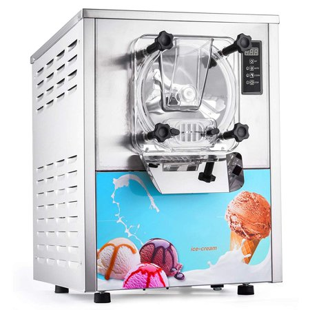 BestEquip 1400W Commercial Hard Serve Ice Cream Machine 1 Flavor 5.3Gallon/H Auto Clean LED Panel Perfect for Restaurants Snack Bar (Ice Machine Accepts Custom Panel)