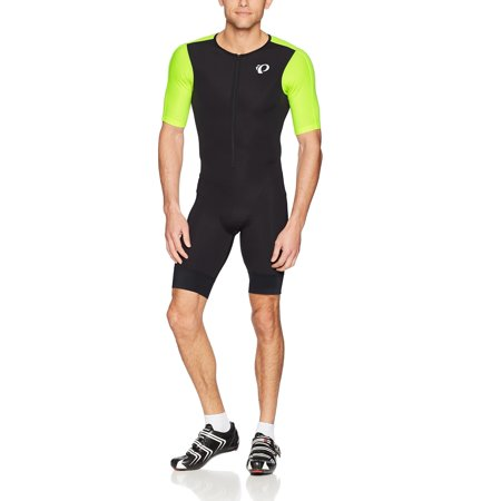 Elite Tri Suit (Pearl iZUMi Elite Pursuit Tri SPD Suit Black/Screaming Yellow X-Large)