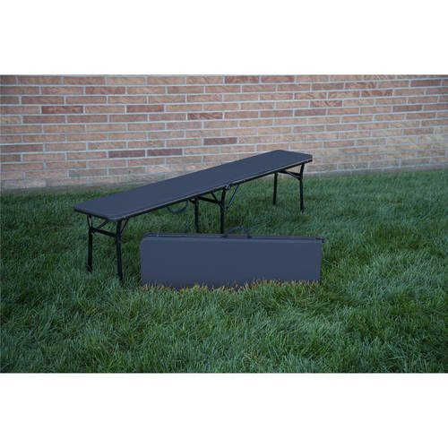 Cosco 6' Indoor Outdoor Center Fold Tailgate Bench with Carrying Handle, 2-Pack, Multiple Colors by Cosco