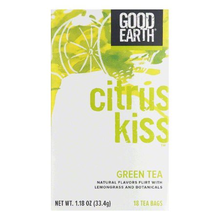 Good Earth Citrus Kiss Green Tea Bags, 18 BG (Pack of 6)