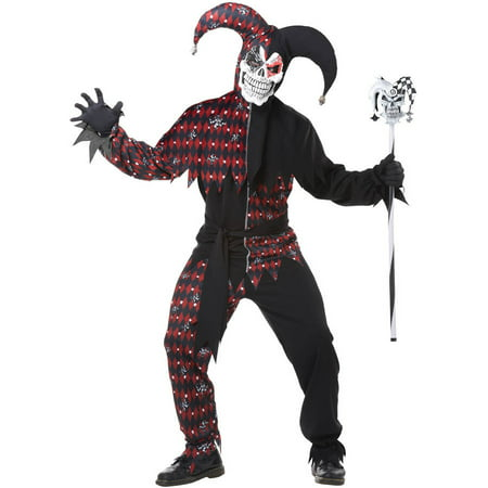 Sinister Jester Men's Adult Halloween Costume](Easy Halloween Jester Makeup)