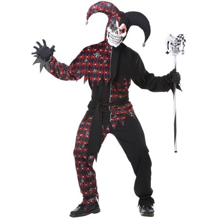 Sinister Jester Men's Adult Halloween Costume - Derek Jeter Halloween Costume