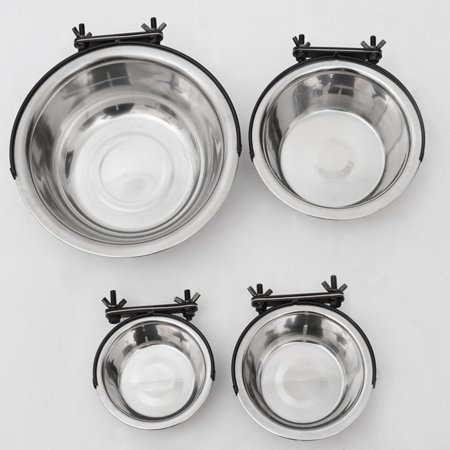 21cm Stainless Steel Pet Bowl Cat Dog Cage Hanging Feeding Watering Bowl - image 8 of 8