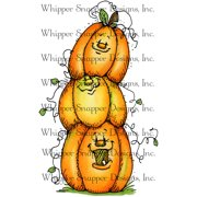 "Whipper Snapper Cling Stamp 4""X6""-Stack O' Pumpkins"