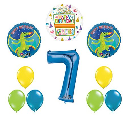 Dragon 7th Birthday Party Supplies and Balloon Decoration Bouquet](Dragon Birthday Party)