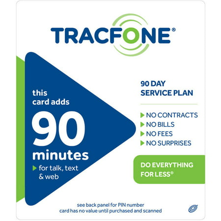 Tracfone 90 Minute 90 Access Days