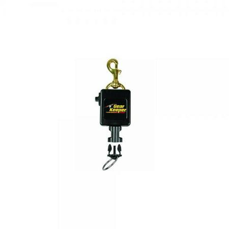 Gear Retractor (Gear Keeper RT3-0083 Locking Scuba Console Retractor Swiveling Brass Bolt Clip Mount with Q/C-II Split Ring)