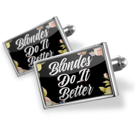 Cufflinks Floral Border Blondes Do It Better - NEONBLOND
