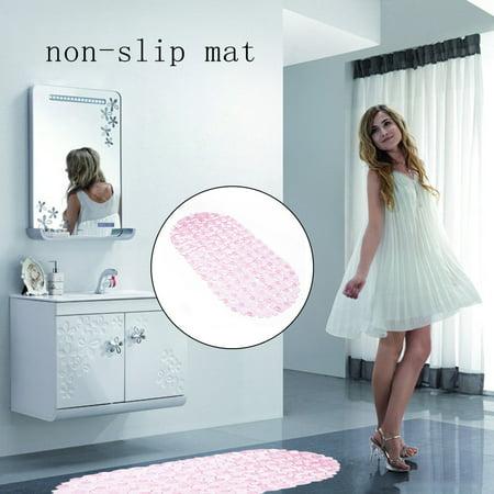 Unique Safety Anti Non Slip Pebble Bath Shower Suction Toilet Floor Plastic
