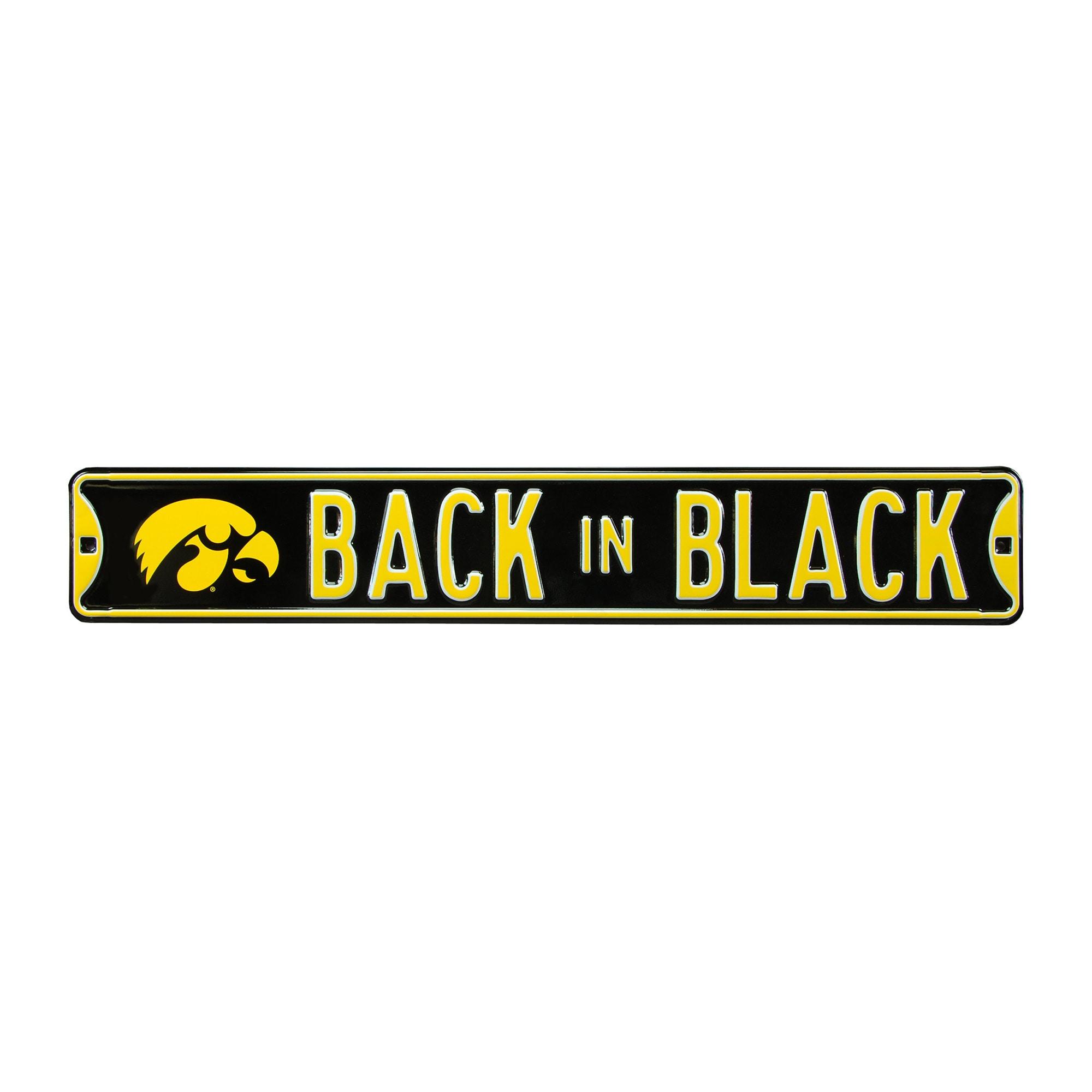 NCAA Nebraska Huskers Street Sign Black 36 x 6