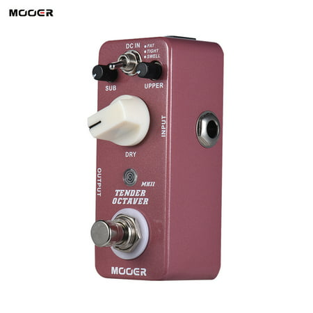 MOOER TENDER OCTAVE MKII Octave Guitar Effect Pedal 3 Modes True Bypass Full Metal