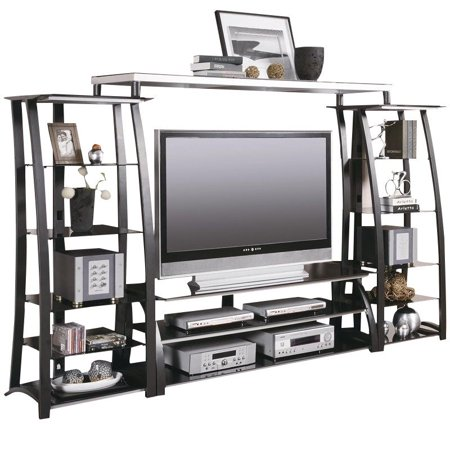 - Coaster Contemporary Metal and Glass Entertainment Center