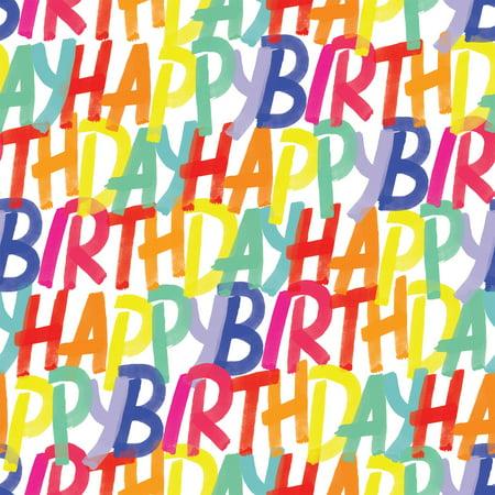 Jillson & Roberts Gift Wrap, Rainbow Birthday, 5' x 30