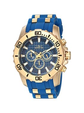 Invicta Pro Diver 22556 Silicone, Stainless Steel Chronograph Watch