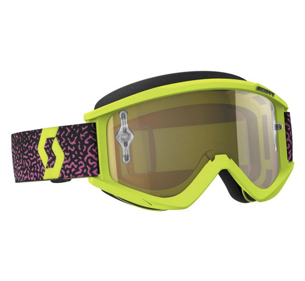 Scott Recoil Xi MX Offroad Goggles w/Chrome Lens Yellow/Pink/Gold Chrome