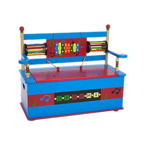 Levels of Discovery Musical Kids Bench with Storage Compartment by Levels of Discovery