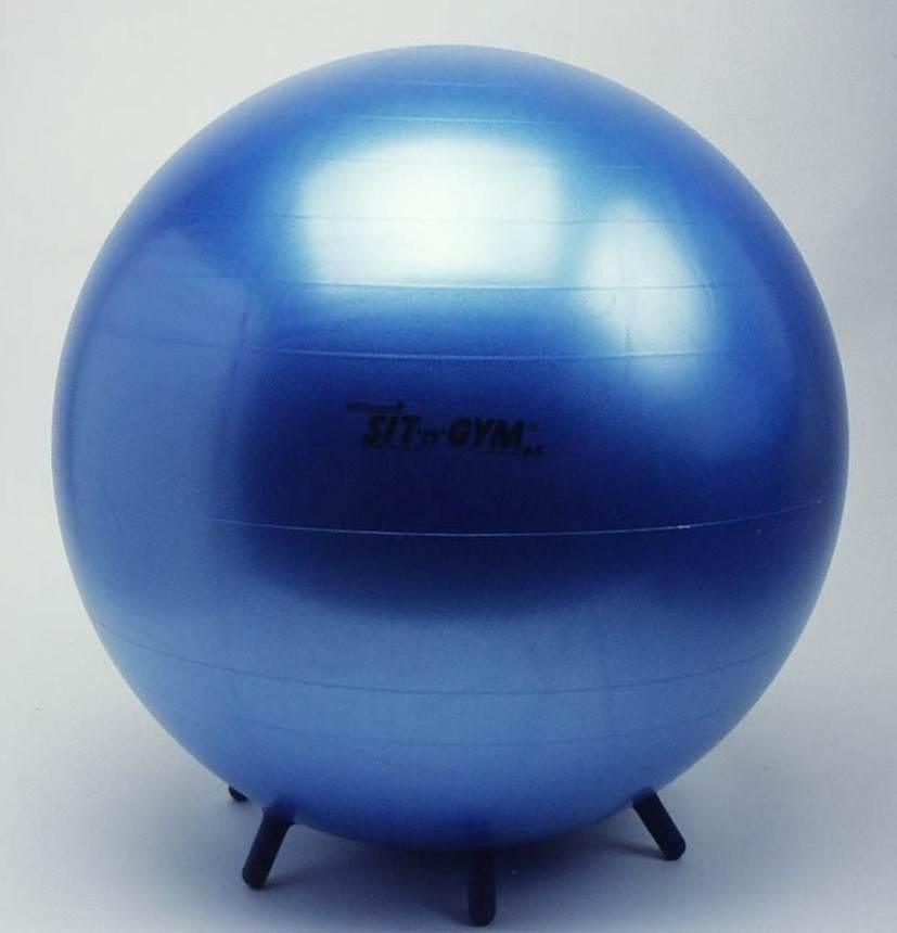 Ergonomics 26 in. Dia. Sit & Gym Plus Ball in Blue