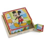 Melissa & Doug Disney Mickey Mouse Cube Puzzle With Storage Tray - 6 Puzzles in 1 (16 pcs)