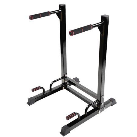 WALFRONT Durable Steel Dip Dipping Knee Raise Station Stand for Home Gym Strength Fitness Exercise, Exercise Training Parallel Bar Ab Workout Sports Equipment Dip Stands, Home Gym Dips (Station Equipment)