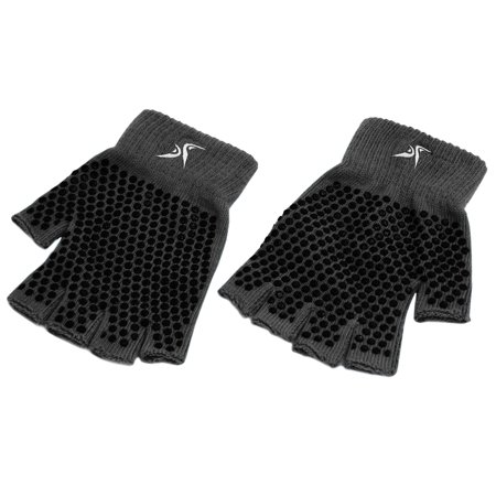 ProsourceFit Grippy Yoga Gloves, Non-Slip Fingerless Design