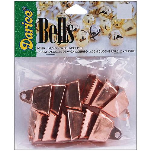 "Cow Bells, 1.25"", 12/Pkg, Copper"
