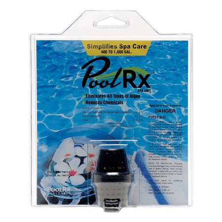 PoolRX 1000 Gallon Spa Water Cleaning Algae Remover Chlorine Mineral Booster