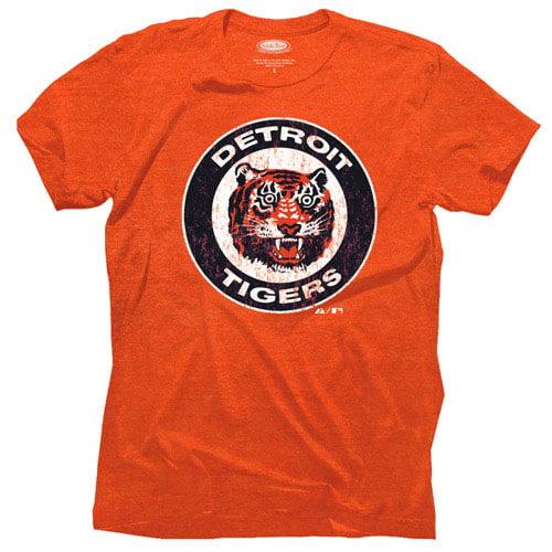 Majestic Threads Detroit Tigers 1961-1993 Cooperstown Logo Tri-Blend T-Shirt - Orange