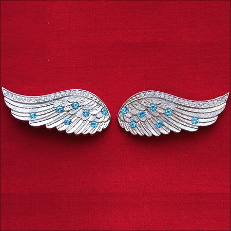 HILASON ANGEL WINGS BLING NICKEL PLATED CONCHO SADDLE HEADSTALL TACK COWGIRL](Cowgirl And Angels)