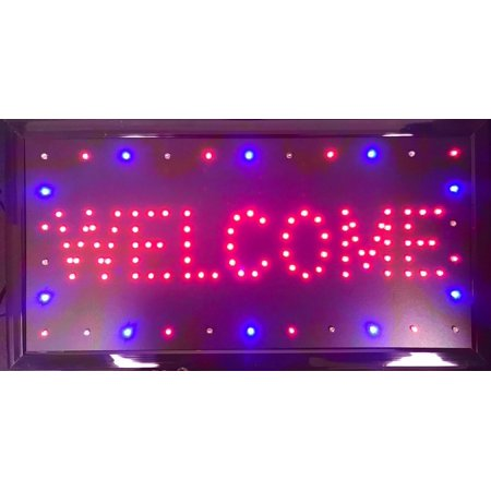 19 Inch Switch (UbiGear 10 19 Inch Animated Motion LED Business Welcome Sign +On/off Switch Bright Open Light)