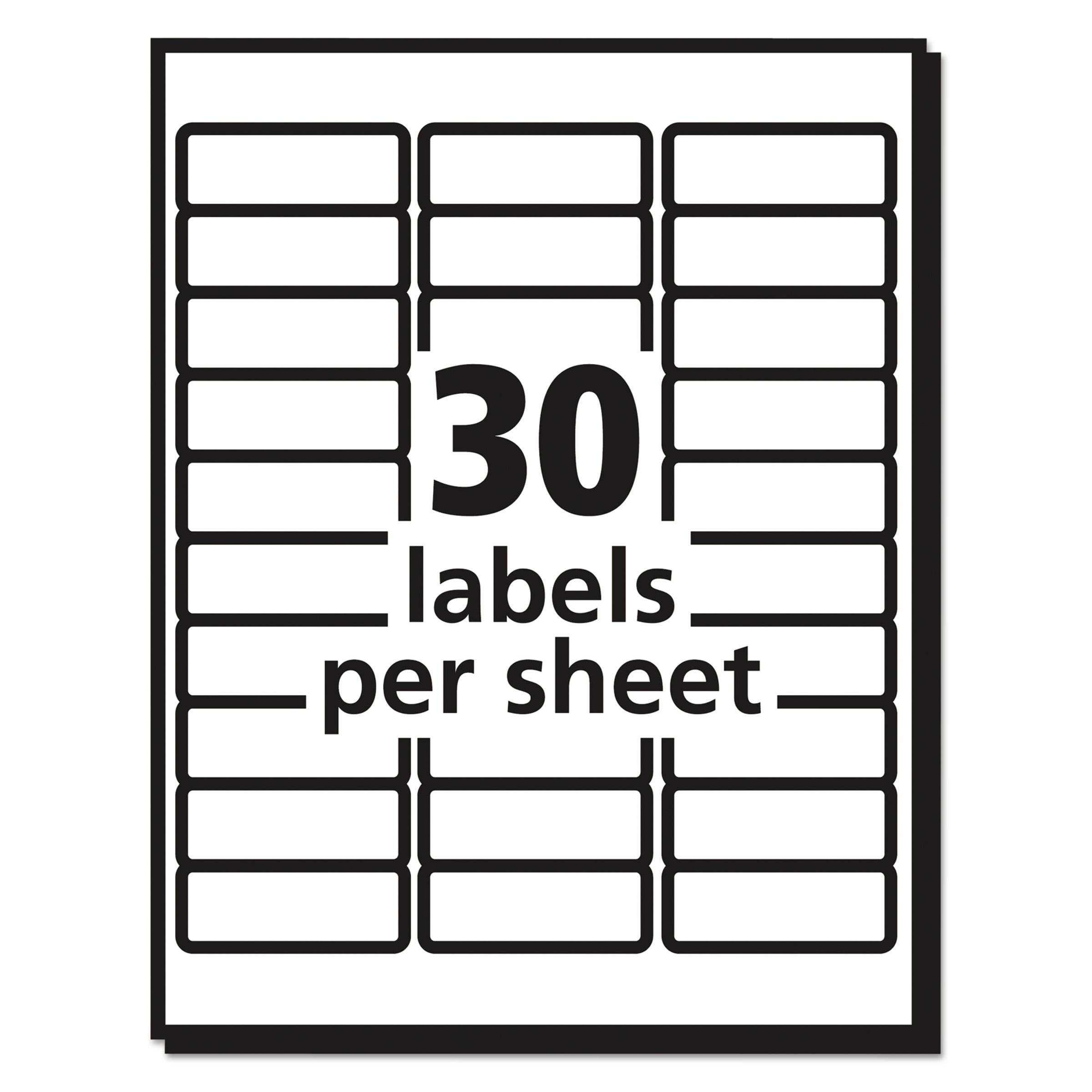 Avery Matte Clear Easy Peel Address Labels Laser 1 X 2 58 300