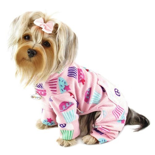 Peace Signs and Cupcakes Fleece Turtleneck Dog Pajamas/Bodysuit Sizes: Large