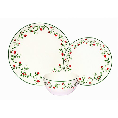 The Holiday Aisle Winterberry Dinnerware Set Service for 12 (Set of 12)  sc 1 st  Walmart & The Holiday Aisle Winterberry Dinnerware Set Service for 12 (Set ...
