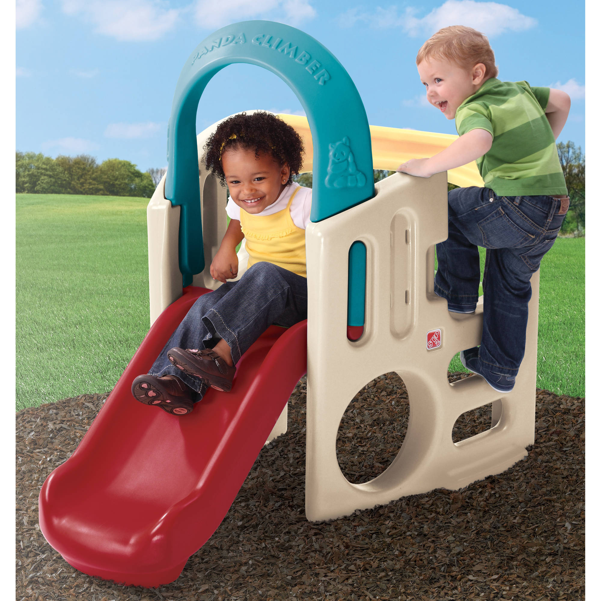 Step2 Panda Climber Activity Gym kids' Activity Gym Comes With a Fun Slide, Archway, a Tunnel and Stairway Holes