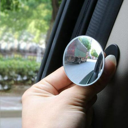 HD 360 Degree Wide Angle Adjustable Car Rear View Convex Mirror Auto Rearview Mirror Vehicle Blind Spot Rimless