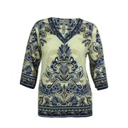 JM Collection Women's Paisley Print Tunic Top