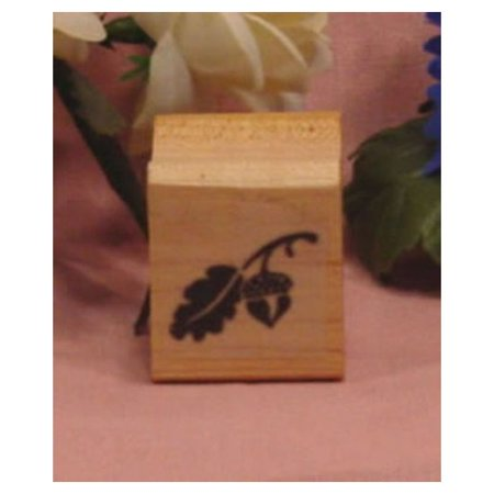 Maple Leaf Rubber Stamp (Solid with Leaf Art Rubber Stamp)
