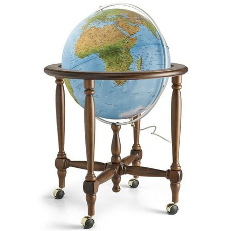 Waypoint Geographic Monaco Blue Oceans Floor Standing Globe