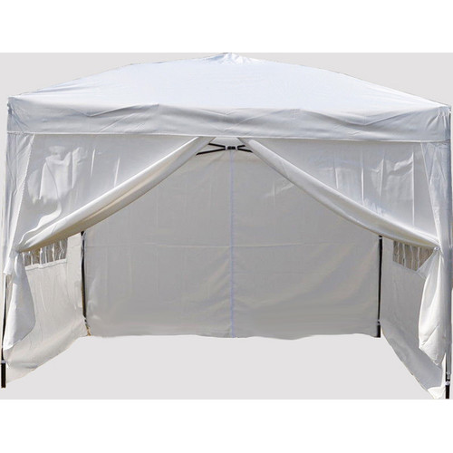 10' x 10' Ez Pop Up 4 Walls Canopy Party Tent Heavy Duty, White 6051 by Newacme LLC