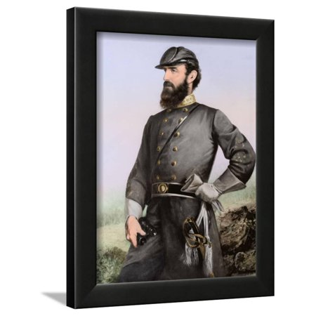Three Quarter Length Portrait of General Thomas Stonewall Jackson Framed Print Wall Art By Stocktrek Images