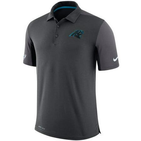 Carolina Panthers Nike Sideline Team Issue Logo Performance Polo - Charcoal - (Sideline Performance Polo)
