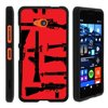 TurtleArmor ® | For Microsoft Lumia 640 [Slim Duo] Two Piece Hard Cover Slim Snap On Case - Guns and Missiles This case is designed to specifically fit the Microsoft Lumia 640 / Microsoft RM-1109