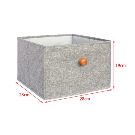 Fabric Storage Box Closet Organizer Drawer Storage Cube Bins Basket Drawer Container - image 2 de 6