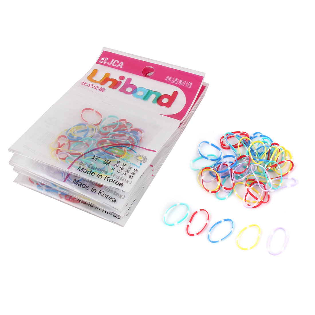 Ladies Women Rubber Elastic Hair Band Braids Holders Assorted Color 300pcs