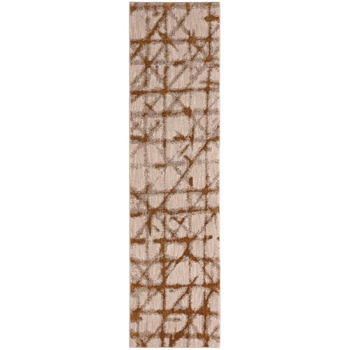 Karastan Enigma Contact Gold White Area Rug by Mohwak Home