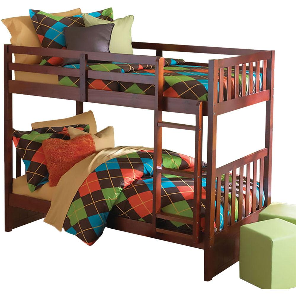 Cambridge Braeburn Twin-Over-Twin Bunk Bed in Merlot