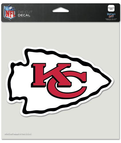 "Kansas City Chiefs Die-Cut Decal - 8""x8"" Color by Wincraft, Inc."