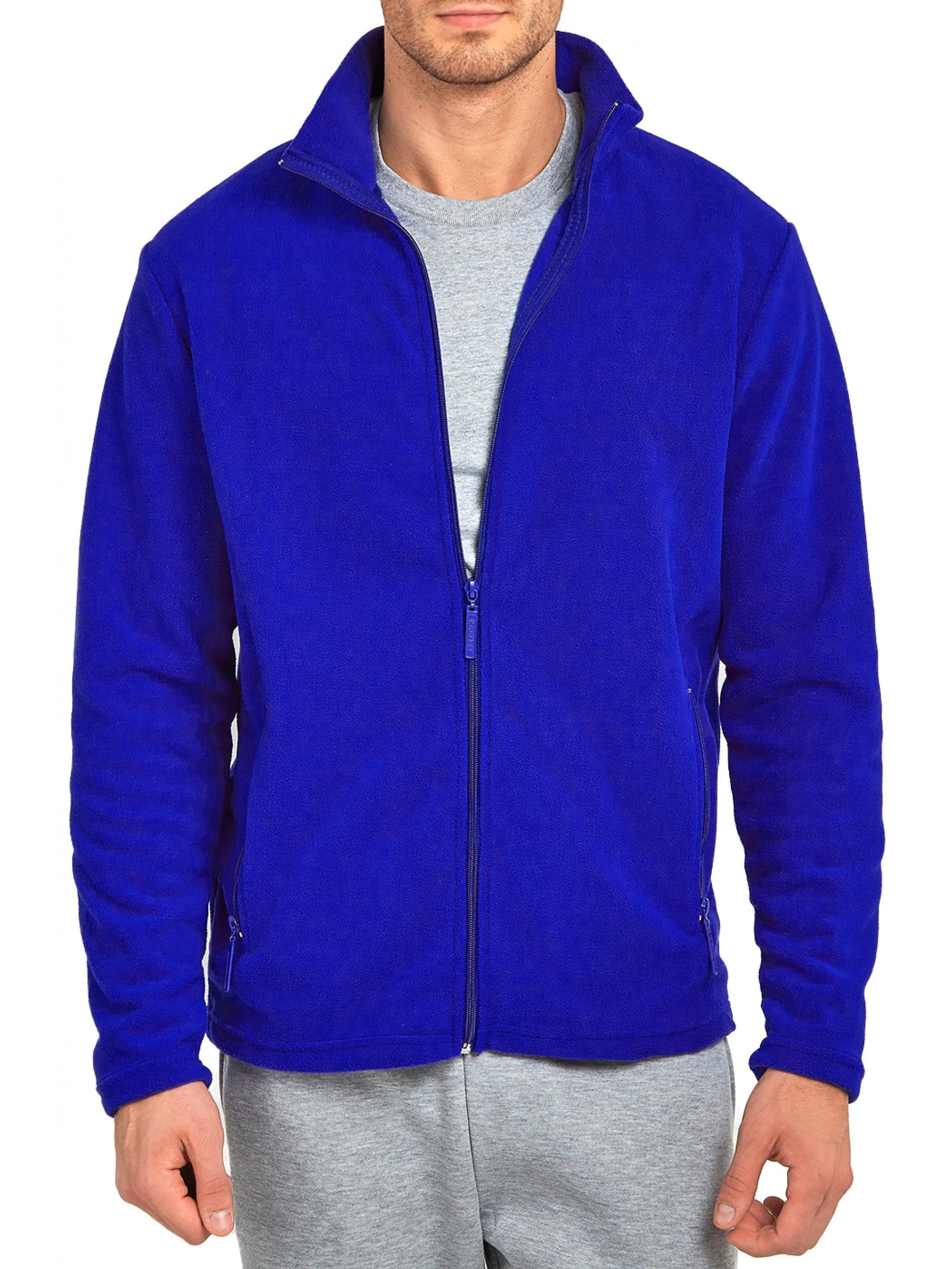 Mechaly Men Classic Full Zip Long Sleeve Polyester Polar Fleece Jacket
